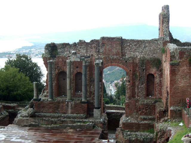 Taormina Greek Theatre Photo by Margie Miklas