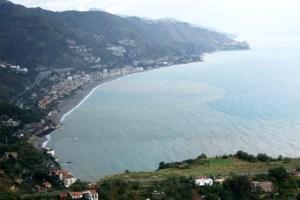 Teatro Greco in Taormina View of Ionian coast Photo by Margie Miklas