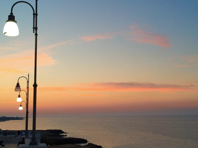 Sunset in Puglia - Polignano a Mare Photo by Margie Miklas