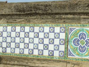 Ceramic wall in Caltagirone, Sicily Photo by Margie Miklas
