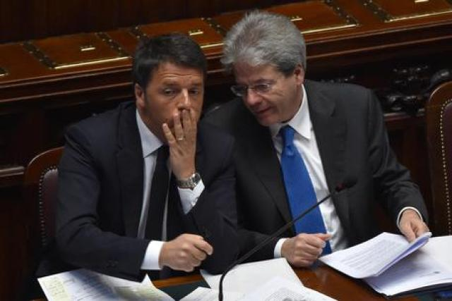 Photo by Ansa.it Renzi and Gentiloni