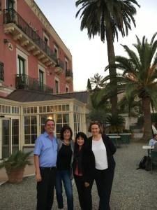 Mr and Mrs Schuler at Villa Schuler in Taormina