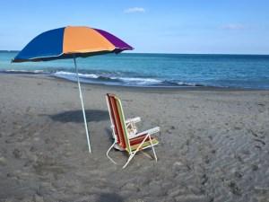 Hutchinson Island beach umbrella photo by Margie Miklas