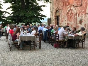 Dinners in the Piazza at Montestigliano Photo by Margie Mikals