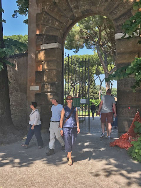 Daniela at Orange Garden Rome Photo by Margie Miklas