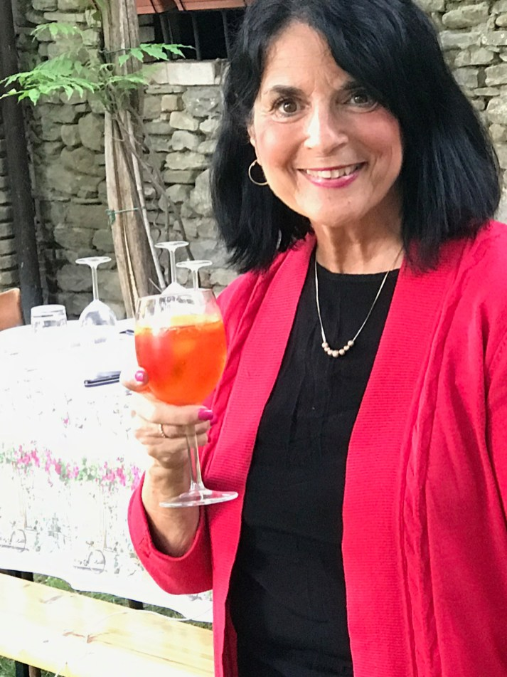 Margie with a Spritz Photo by Margie Miklas