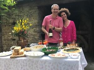 Piero Asso and Luisa Donati at Palazzo Donati Photo by Margie Miklas