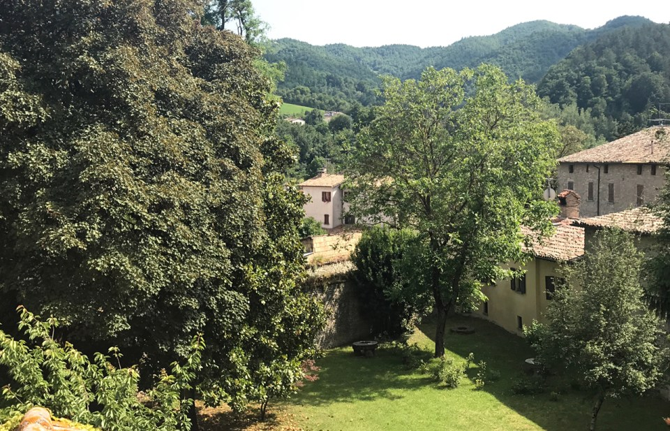 View from yard Palazzo Donati Le Marche photo by Margie Miklas