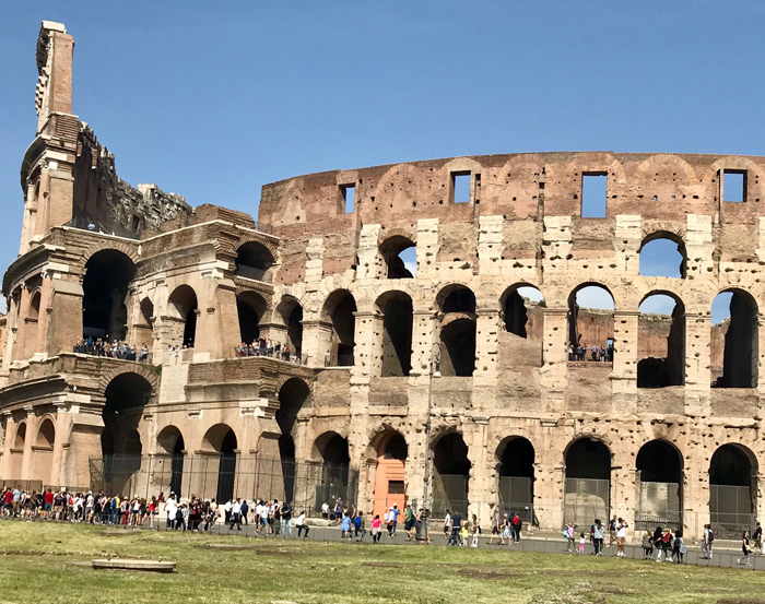 Rome Colosseum exterior Photo by Margie Miklas