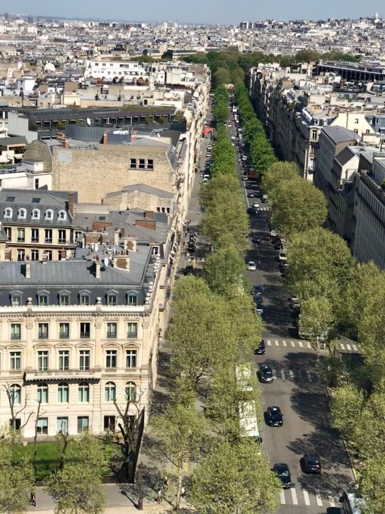 Impressions of Paris View from Arc di Triomphe photo by Margie Miklas