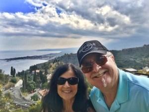 Richard and me in Taormina Photo by Margie Miklas