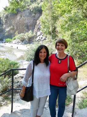 My cousin Teresa Savoca and me in Sicily Photo by Margie Miklas