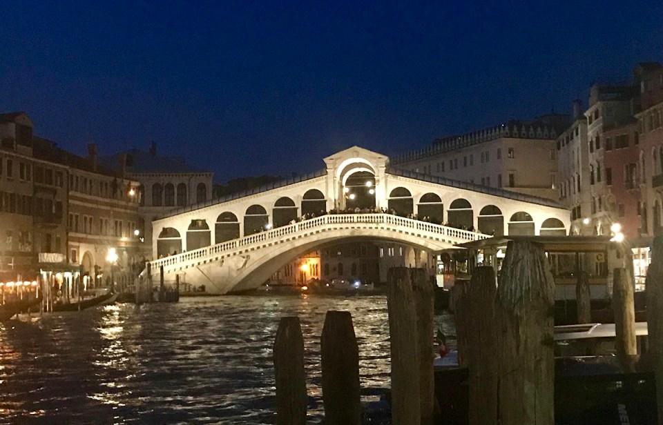 Rialto bridge at night Photo by Margie Miklas