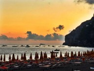Sunset at Hotel Pupetto in Positano Photo by Margie Miklas