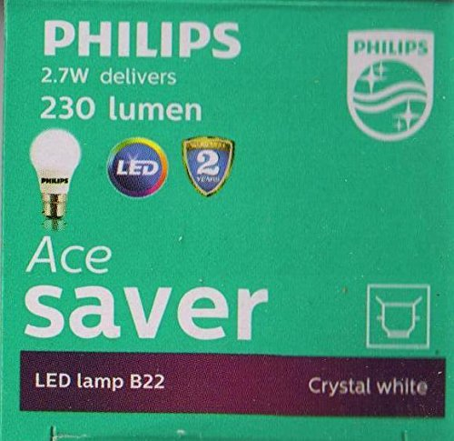 Buy Philips Base B22 2.7-Watt LED Bulb (Cool Day Light,Pack of 2) (Cool Day Light) from Amazon + Get Amazing Benefits listed in Benefits Page
