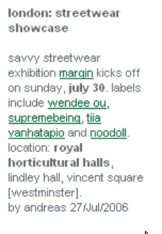 london: streetwear showcase  savvy streetwear exhibition margin kicks off on sunday july 30, labels include wendee ou, supremebeing, tiia vanhatapio and noodoll, location: royal horticultural halls, lindley hall, vincent square [westminster].