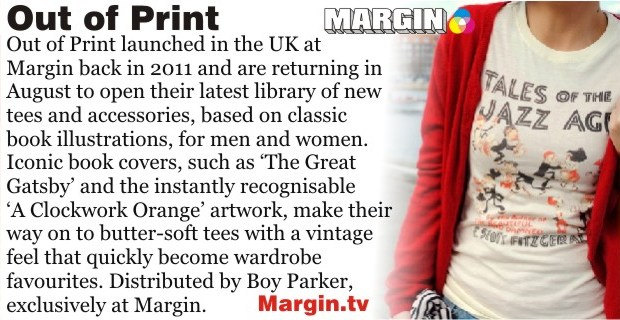 previews AUG 2013 out of print margin london