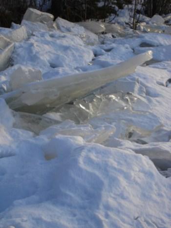 Eis auf dem Fluss