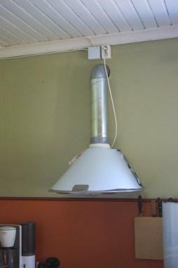 Das Abzugsrohr installiert