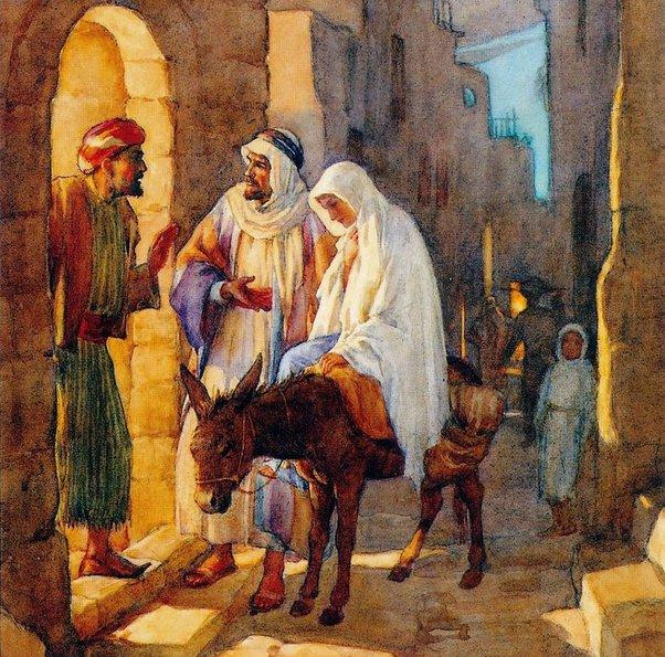 No room in the inn Bethlehem, manger