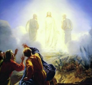 The Transfiguration, by Carl Bloch, Danish painter, 1834-1890.