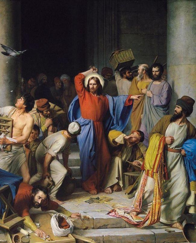 Jesus and the money-changers John's Gospel