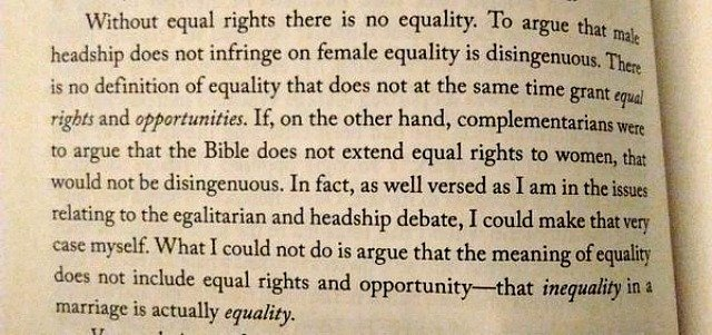 "How Christian Egalitarians understand ""Equality"""