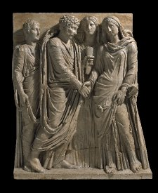 Roman Marriage, relief on a sarcophagus