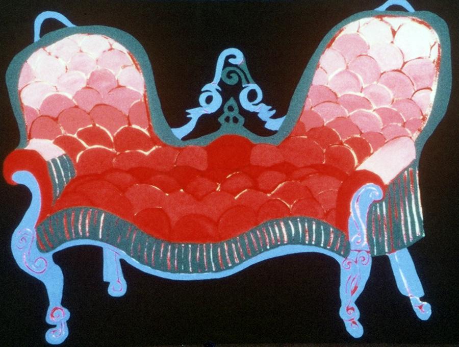 Pink Conversation Sofa, 1988