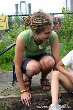 Christine Boyle at Grandview School garden