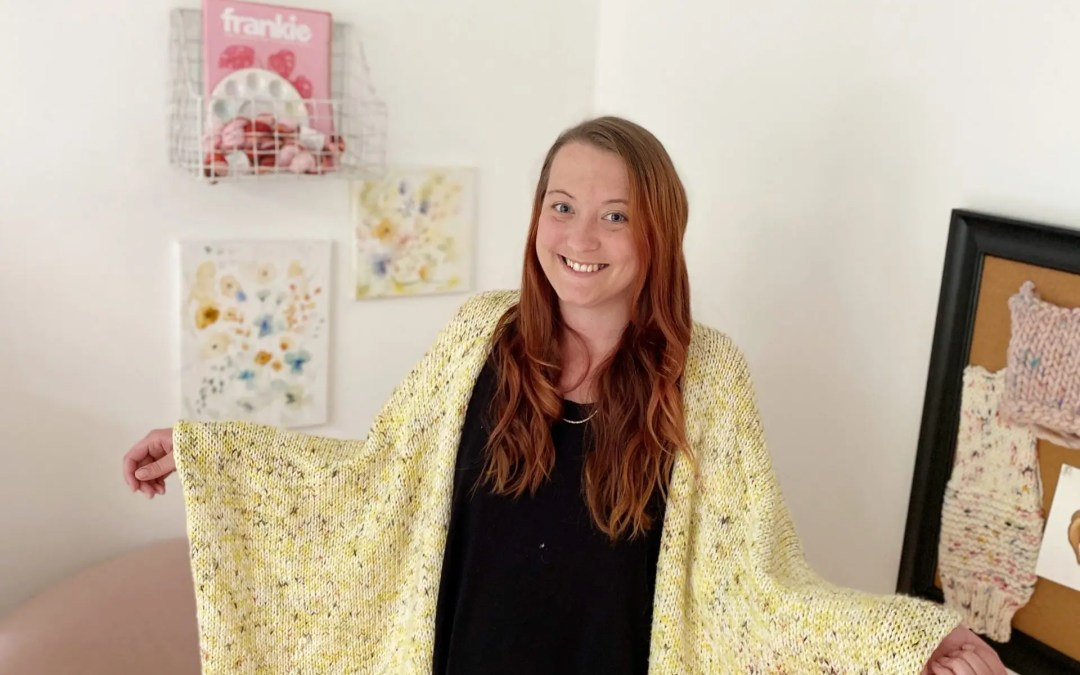 Blanket Cardigan Free Knitting Pattern