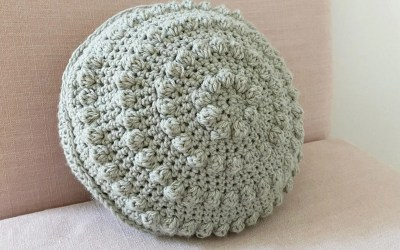 Crochet Round Bobble Pillow Free Pattern
