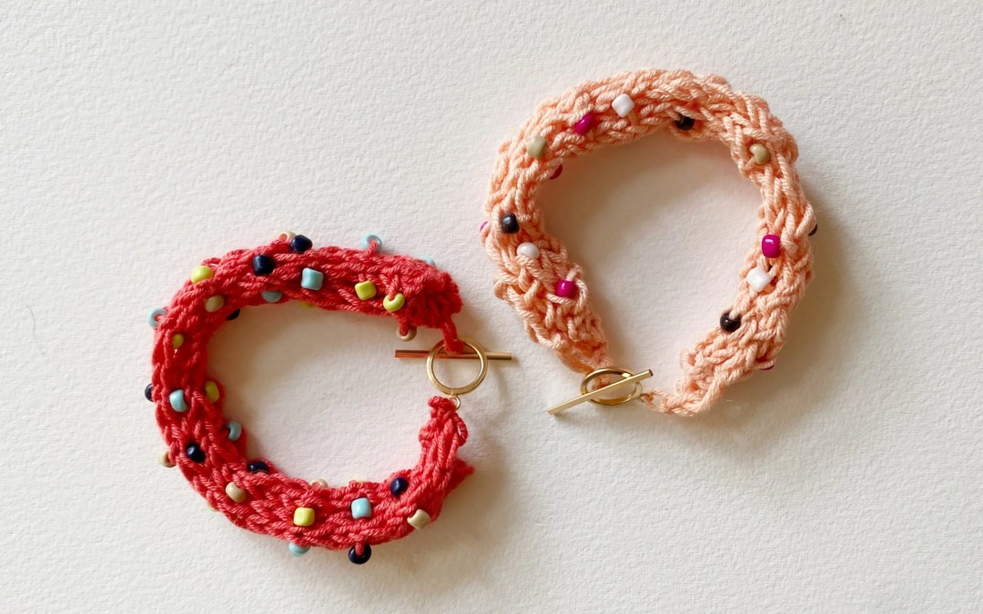 Rockin Stockin Beaded Bracelet Knitting Pattern and DIY Knit Kit