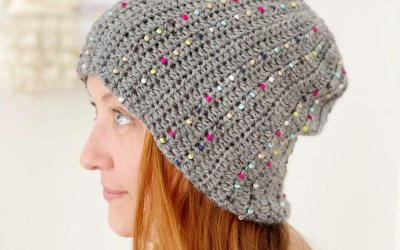 Secret Pattern: Crochet Beaded Beanie
