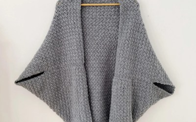 Suzette Stitch Blanket Cardigan Free Crochet Pattern