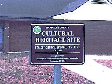 Figure 129-Strieby Cultural Heritage Sign