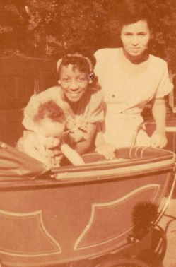 Mommy-Aunt Ethel & Me on Ditmars Stpring 1948-a