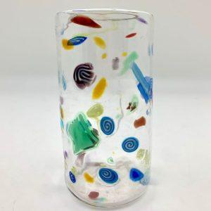 Hand-Blown Confetti Tall Glass by Daniel Gaumer