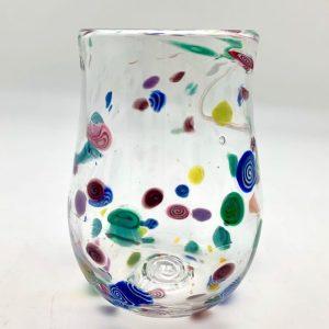 Hand-Blown Confetti Wine Glass by Daniel Gaumer
