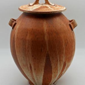 Brown Stoneware Jar by Lynn Munns