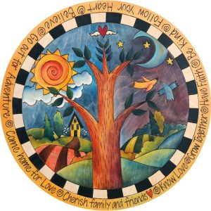 """Dancing Birds-18"""" Lazy Susan by Sincerely Sticks"""