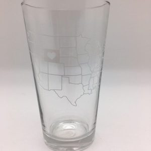 Love Wyoming Pint Glass by Counter Couture