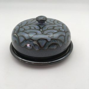Blue Porcelain Butter Dish by Margo Brown - 0997