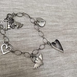 silver Heart Charm Bracelet by iNK