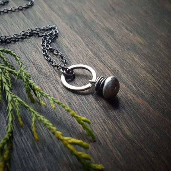 silver Un Petit Necklace by Andewyn Moon
