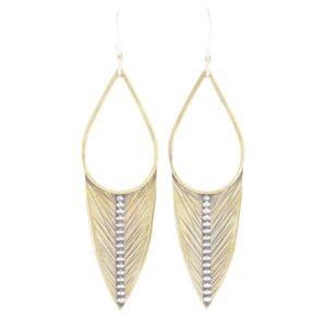 Sagitta Sterling Silver and Bronze Earrings by bohemi