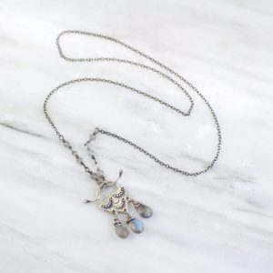 Wanderer Raindrop Labradorite Toggle Necklace Sarah Deangelo