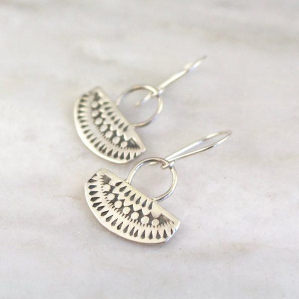Asmi Short Loop Earrings Sarah Deangelo