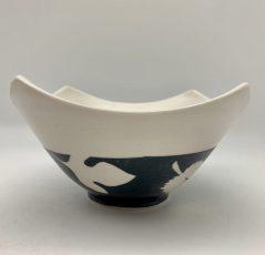 Leaves Medium 4 Corners Bowl by Rita Vali
