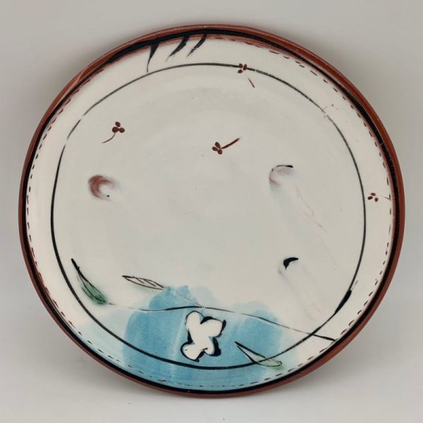 Decorated Terracotta Plate by Victoria Christen